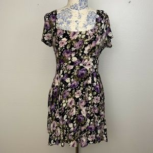 Kimchi Blue Urban Outfitters Purple Floral Dress
